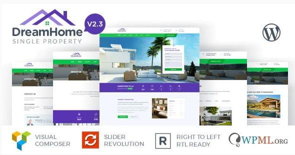 DreamHome - 35+ Stunning WordPress Single Property Themes [year]