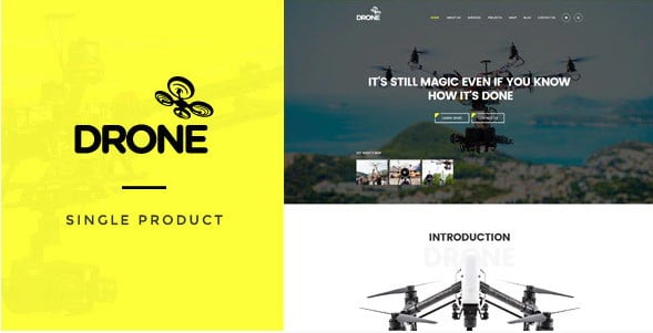 Drone - 36+ Awesome WordPress Single Product Themes [year]