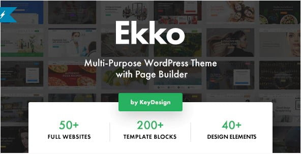 Ekko - 35+ TOP WordPress Coworking Space Themes [year]