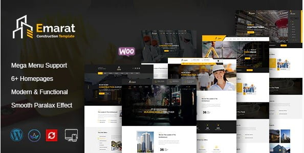 Emarat - 35+ TOP WordPress Coworking Space Themes [year]
