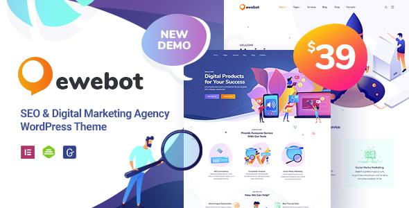Ewebot - 36+ Amazing WordPress SEO Agency Themes [year]