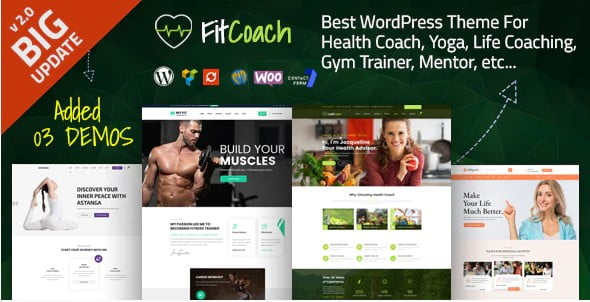 Fit-Coach - 35+ TOP WordPress Lifestyle Themes [year]
