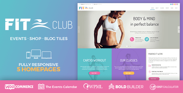 Fitness-Club - 35+ HOT WordPress Dance Studios Themes [year]