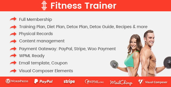 Fitness-Trainer - 35+ Popular Membership Plugins For WordPress [year]