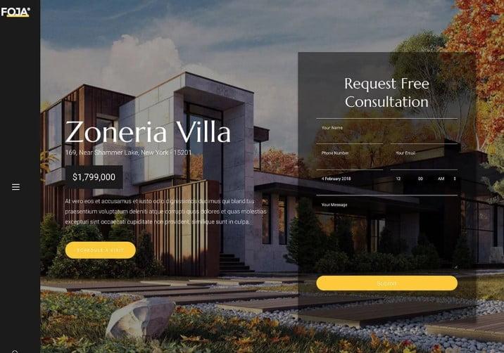 Foja - 35+ Stunning WordPress Single Property Themes [year]