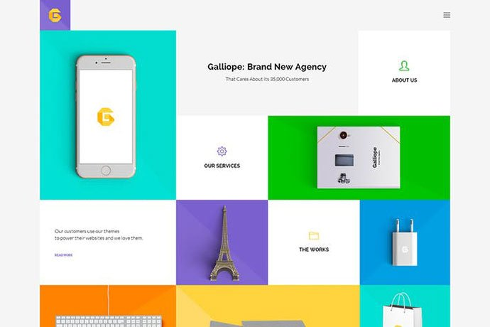 Galliope - 35+ NICE CSS HTML Website Templates [year]