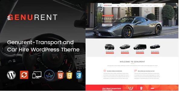 Genurent - 34+ TOP Responsive WordPress Taxi Themes [year]
