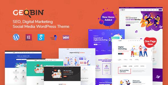 GeoBin - 36+ Amazing WordPress SEO Agency Themes [year]
