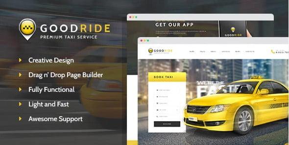 Good-Ride - 34+ TOP Responsive WordPress Taxi Themes [year]