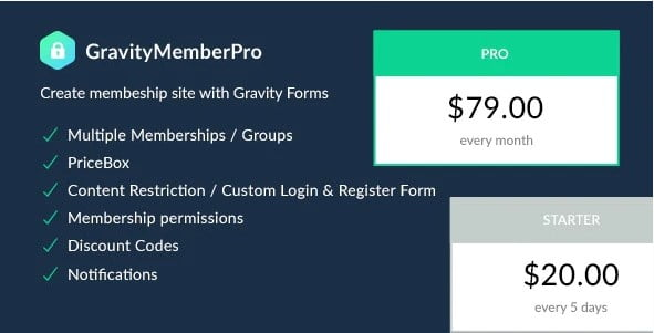 GravityMemberPro - 35+ Popular Membership Plugins For WordPress [year]