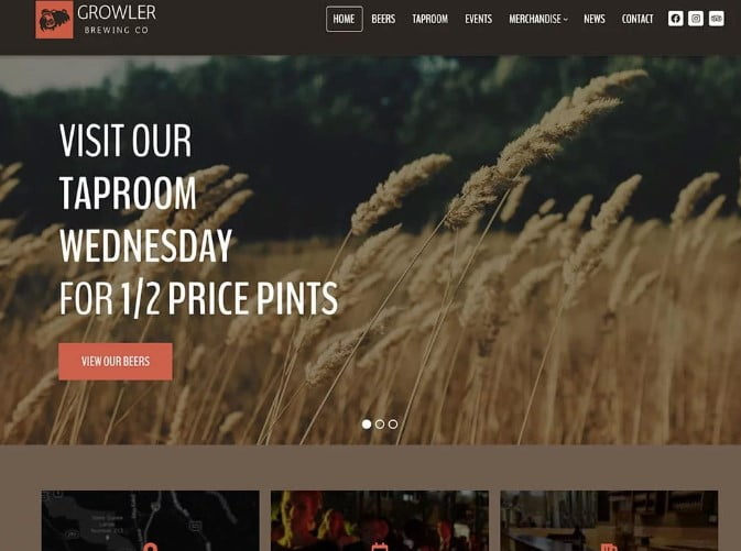 Growler-1 - 34+ AWESOME WordPress Brewery Themes [year]