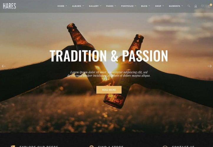 Hares - 34+ AWESOME WordPress Brewery Themes [year]