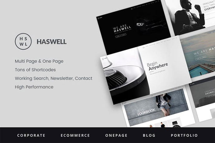 Haswell - 35+ NICE CSS HTML Website Templates [year]