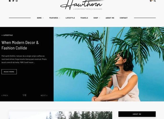 Hawthorn - 35+ TOP WordPress Lifestyle Themes [year]