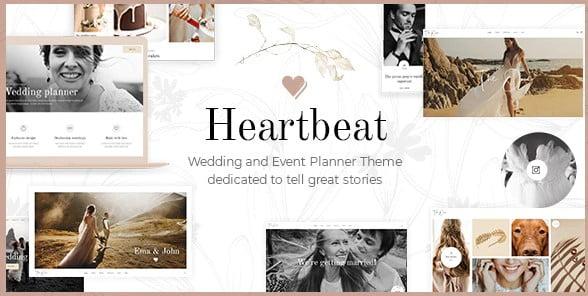 Heartbeat - 37+ Great WordPress Wedding Photography Themes [year]