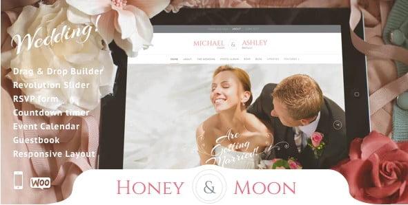 Honeymoon - 37+ Great WordPress Wedding Photography Themes [year]