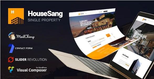 HouseSang - 35+ Stunning WordPress Single Property Themes [year]