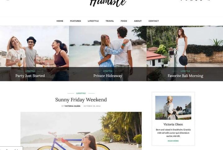 Humble - 35+ TOP WordPress Lifestyle Themes [year]
