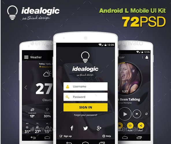 Idealogic - 46+ BEST Free Dark App UI Designs IDEA [year]