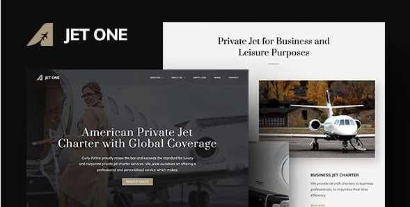 Jet-One - 34+ TOP Responsive WordPress Taxi Themes [year]