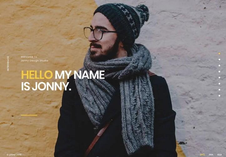 Jonny - 35+ GREAT WordPress Resume Themes [year]