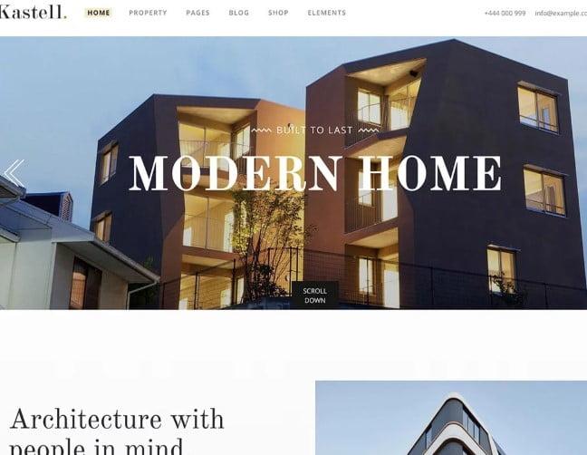 Kastell-1 - 35+ Stunning WordPress Single Property Themes [year]