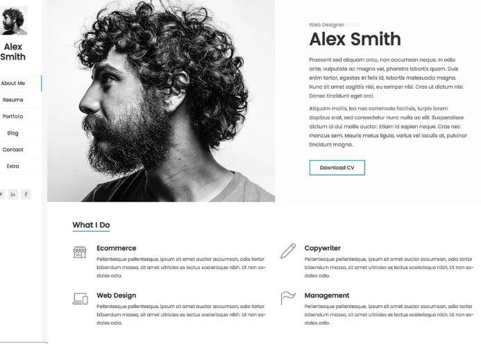 Kerge - 35+ GREAT WordPress Resume Themes [year]