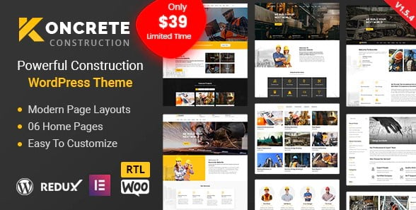 Koncrete - 35+ TOP WordPress Coworking Space Themes [year]
