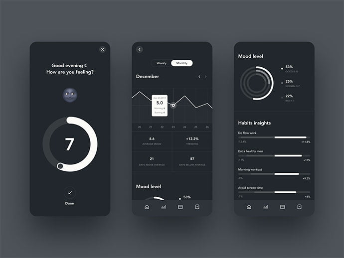 Ladder - 46+ BEST Free Dark App UI Designs IDEA [year]