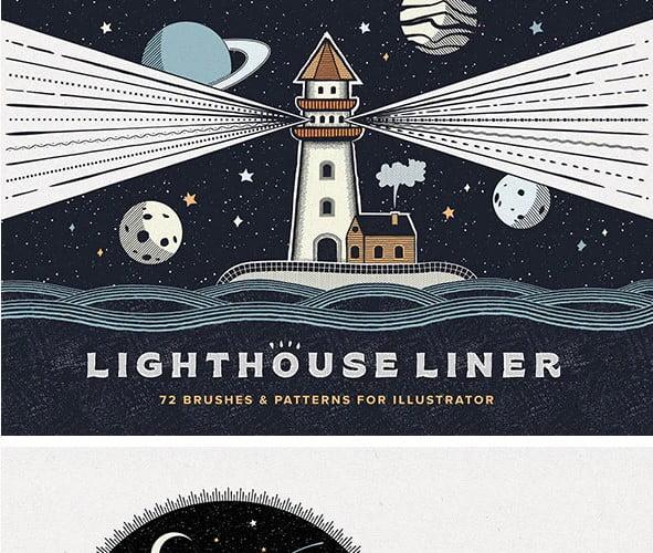 Lighthouse - 36+ AMAZING Free Minimal Illustrations IDEA [year]