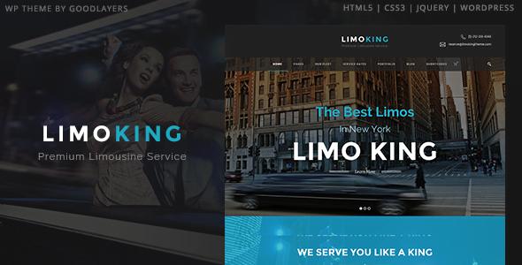Limo-King - 34+ TOP Responsive WordPress Taxi Themes [year]
