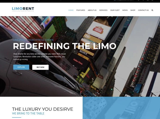 Limo-Rent-1 - 30+ Awesome WordPress Car Rental Themes [year]