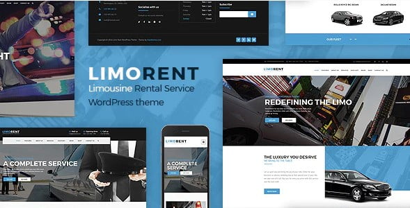 Limo-Rent - 34+ TOP Responsive WordPress Taxi Themes [year]