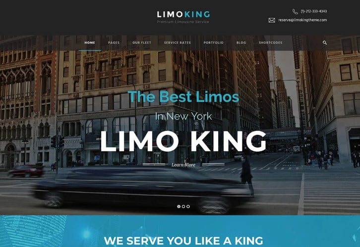Limo - 30+ Awesome WordPress Car Rental Themes [year]