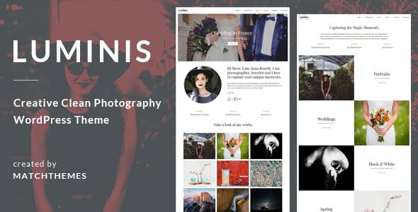 Luminis - 37+ Great WordPress Wedding Photography Themes [year]