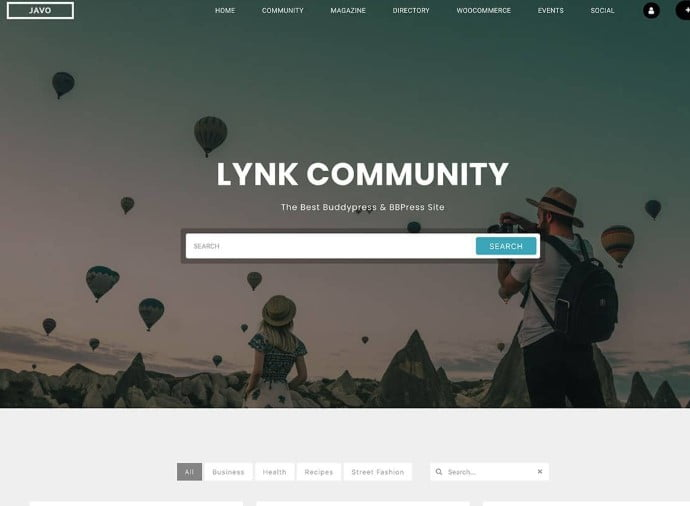Lynk - 35+ Responsive WordPress Community Themes [year]