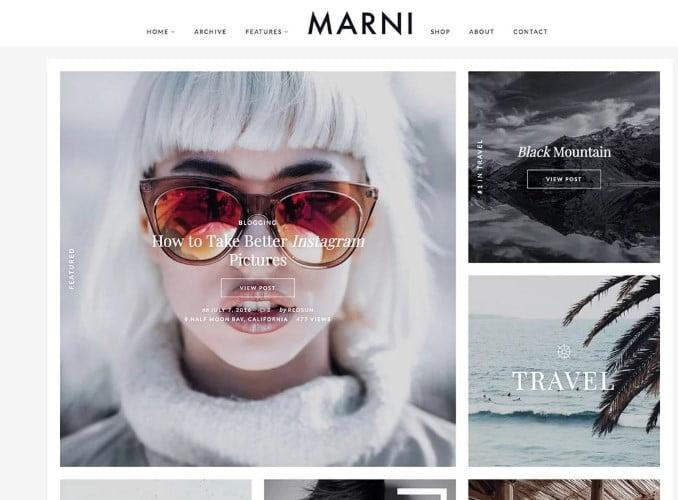 Marni - 35+ TOP WordPress Lifestyle Themes [year]