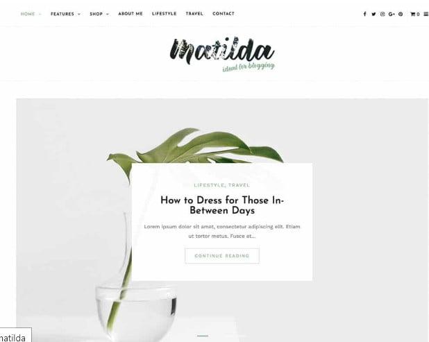Matilda - 35+ TOP WordPress Lifestyle Themes [year]