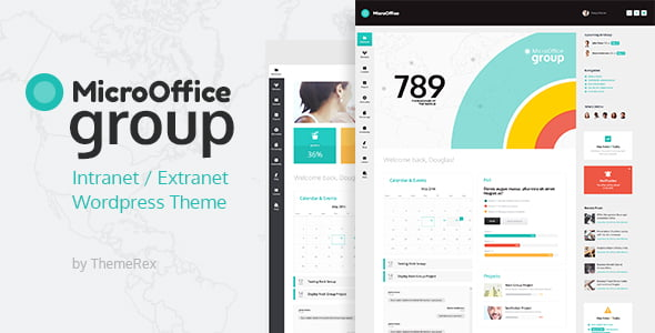 Micro-Office - 30+ AWESOME WordPress Intranet Themes [year]