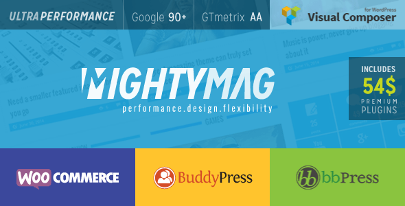 MightyMag - 35+ Responsive WordPress Community Themes [year]
