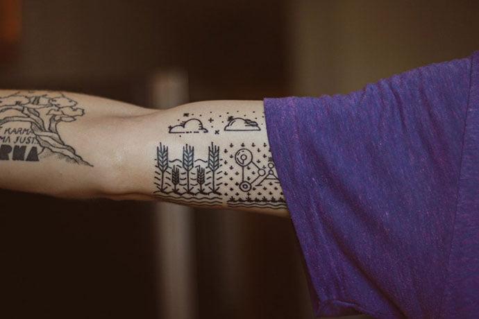 Minimal-Tattoo - 36+ AMAZING Free Minimal Illustrations IDEA [year]