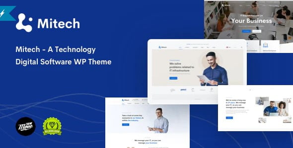 Mitech - 35+ TOP WordPress Coworking Space Themes [year]
