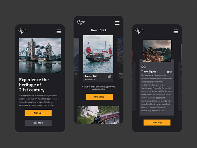Mobile-Shot - 46+ BEST Free Dark App UI Designs IDEA [year]