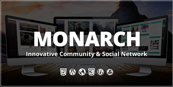 Monarch - 35+ Responsive WordPress Community Themes [year]