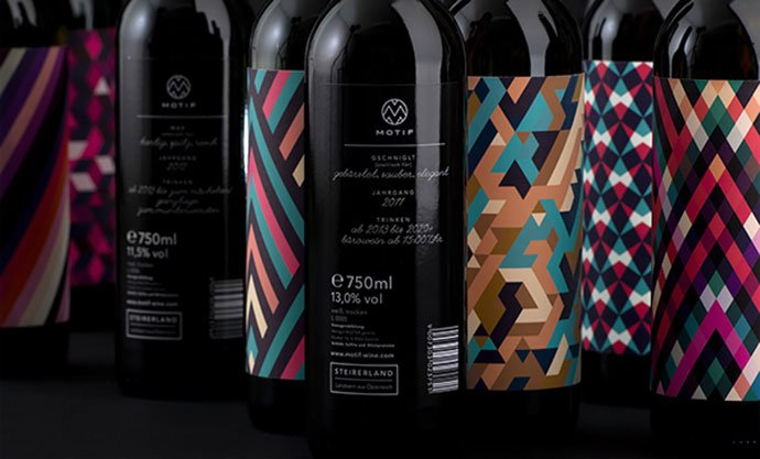 Motif-Fine-Art-Wine - 38+ Nice Free Pattern Shapes Packaging Designs [year]