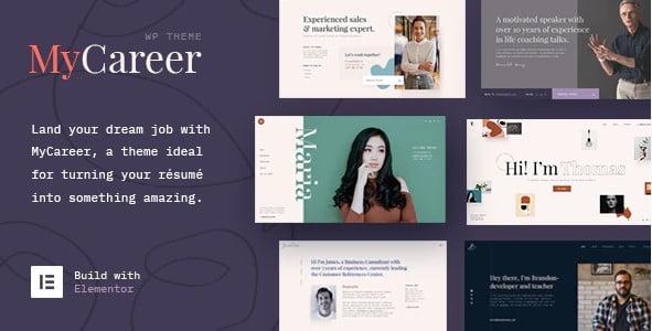 MyCareer - 35+ GREAT WordPress Resume Themes [year]