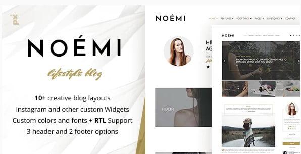 Noemi-1 - 35+ TOP WordPress Lifestyle Themes [year]