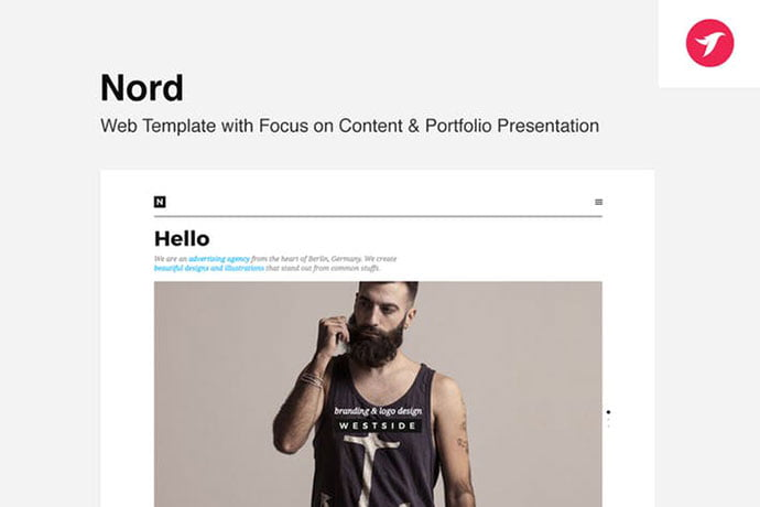 Nord - 35+ NICE CSS HTML Website Templates [year]