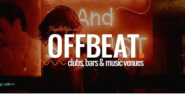 Offbeat-1 - 35+ AMAZING WordPress Bar & Pub Themes [year]