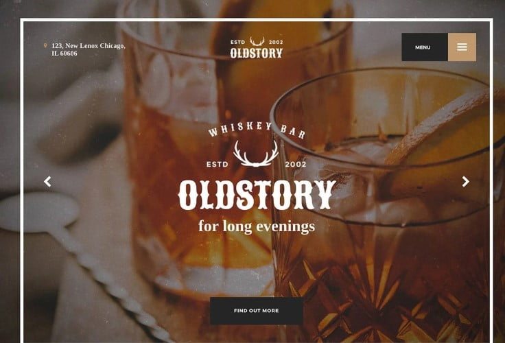 Old-Story - 35+ AMAZING WordPress Bar & Pub Themes [year]